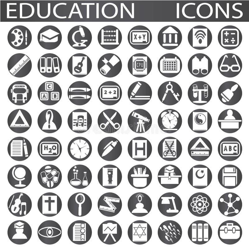 Εικονίδια εκπαίδευσης απεικόνιση αποθεμάτων