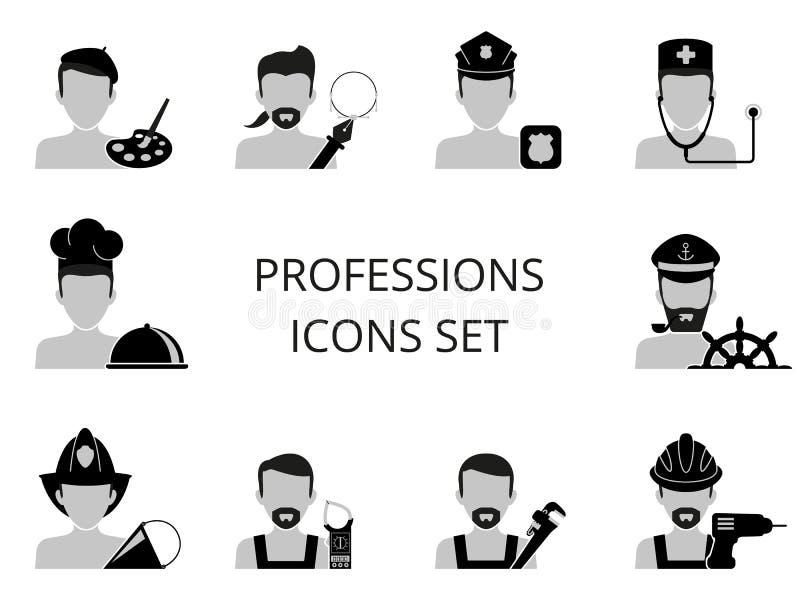 Εικονίδια επαγγελμάτων που τίθενται απεικόνιση αποθεμάτων