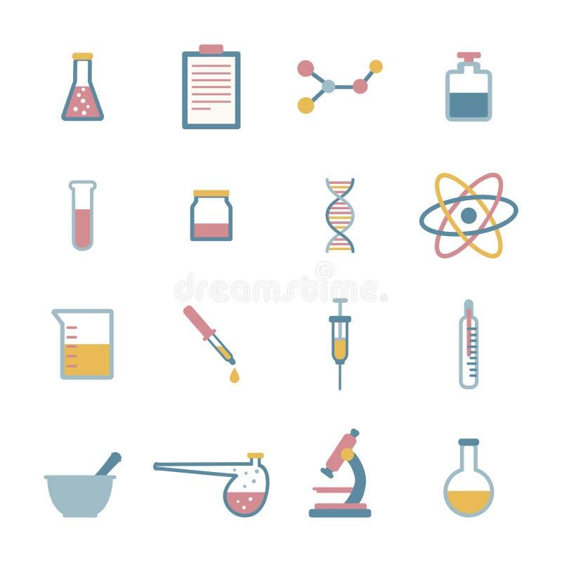 Εικονίδια επιστήμης διανυσματική απεικόνιση