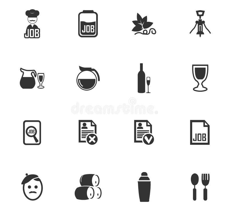 Εικονίδια εργασίας καθορισμένα απεικόνιση αποθεμάτων