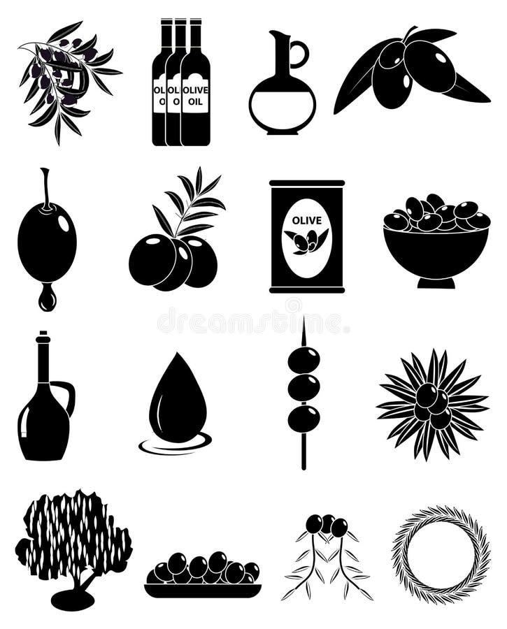 Εικονίδια ελιών καθορισμένα ελεύθερη απεικόνιση δικαιώματος