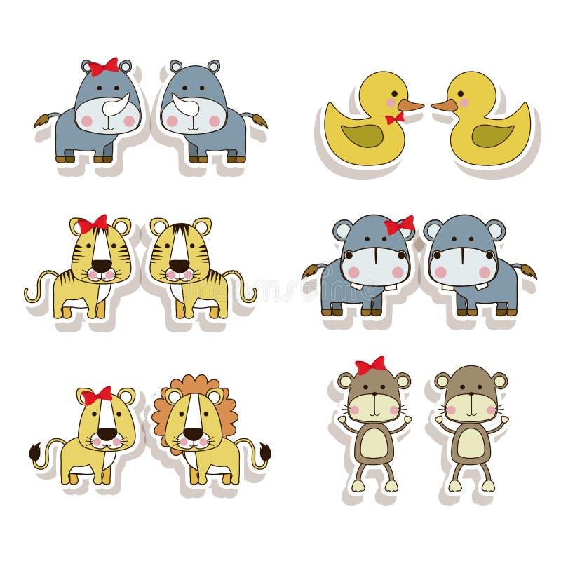 Εικονίδια ζώων απεικόνιση αποθεμάτων