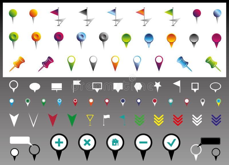 Εικονίδια θέσης διανυσματική απεικόνιση