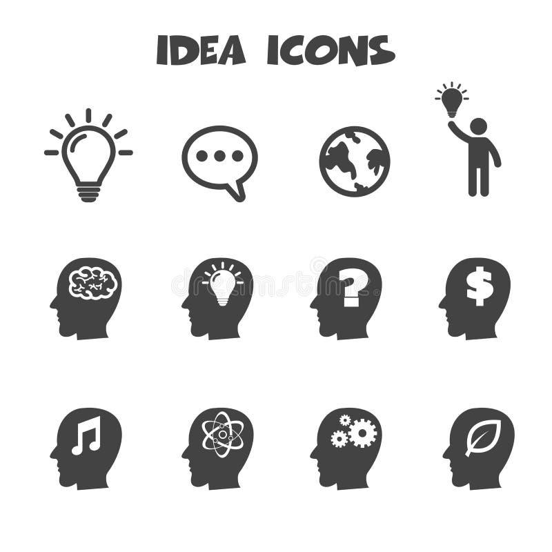 Εικονίδια ιδέας διανυσματική απεικόνιση