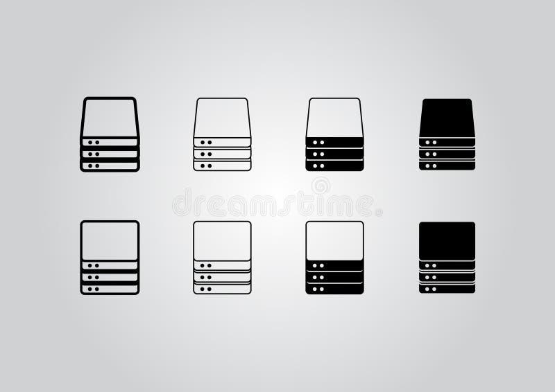 Εικονίδια κεντρικών υπολογιστών ελεύθερη απεικόνιση δικαιώματος