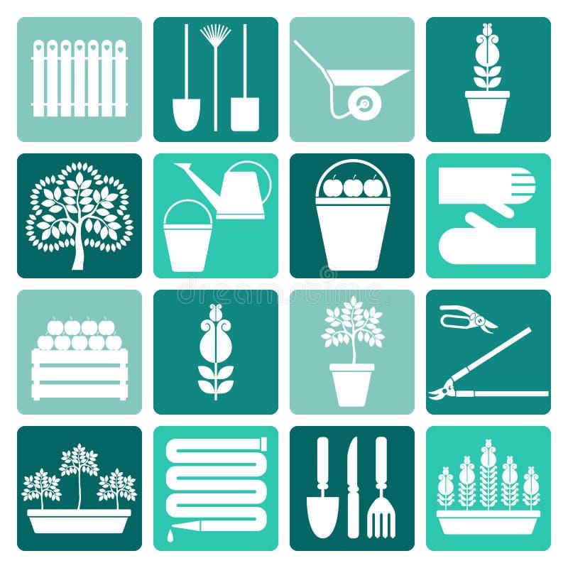 εικονίδια κηπουρικής π&omicro απεικόνιση αποθεμάτων