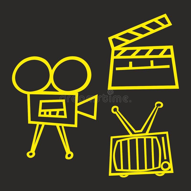 Εικονίδια κινηματογράφων στοκ φωτογραφίες με δικαίωμα ελεύθερης χρήσης