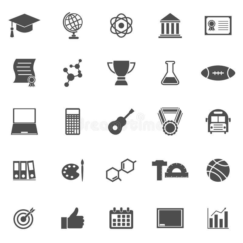 Εικονίδια κολλεγίου στο άσπρο υπόβαθρο ελεύθερη απεικόνιση δικαιώματος