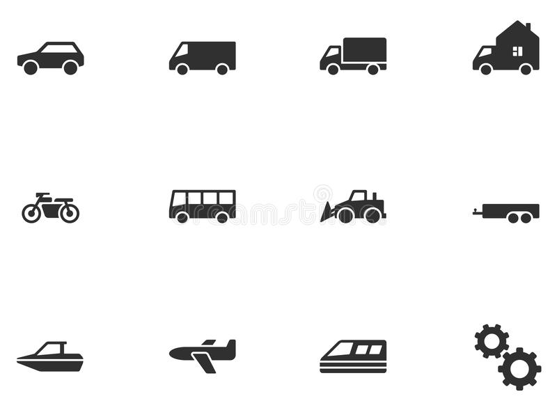 12 εικονίδια μεταφορών απεικόνιση αποθεμάτων