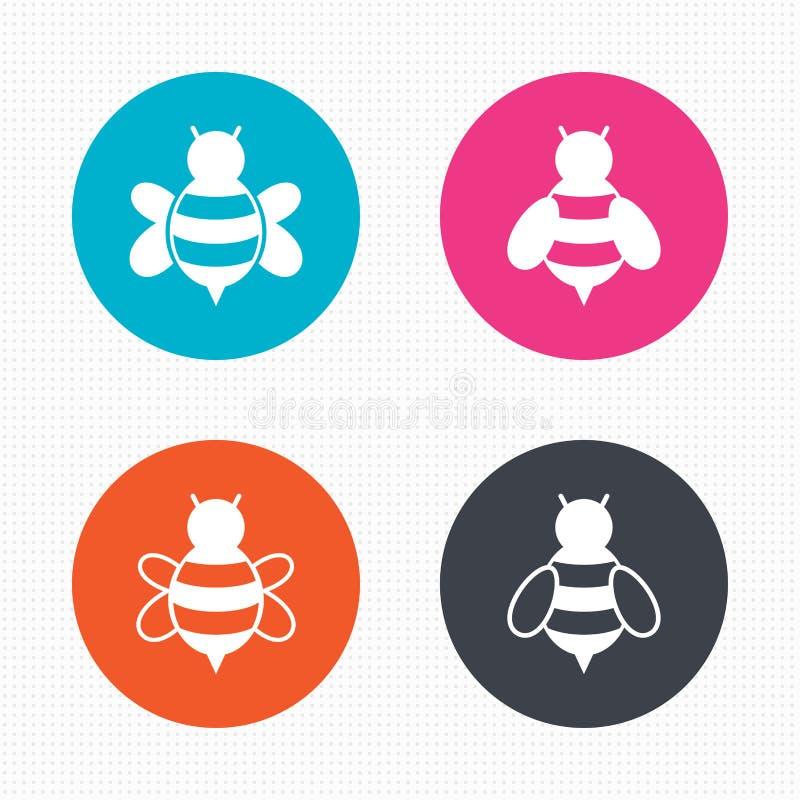 Εικονίδια μελισσών μελιού Bumblebees σύμβολα απεικόνιση αποθεμάτων