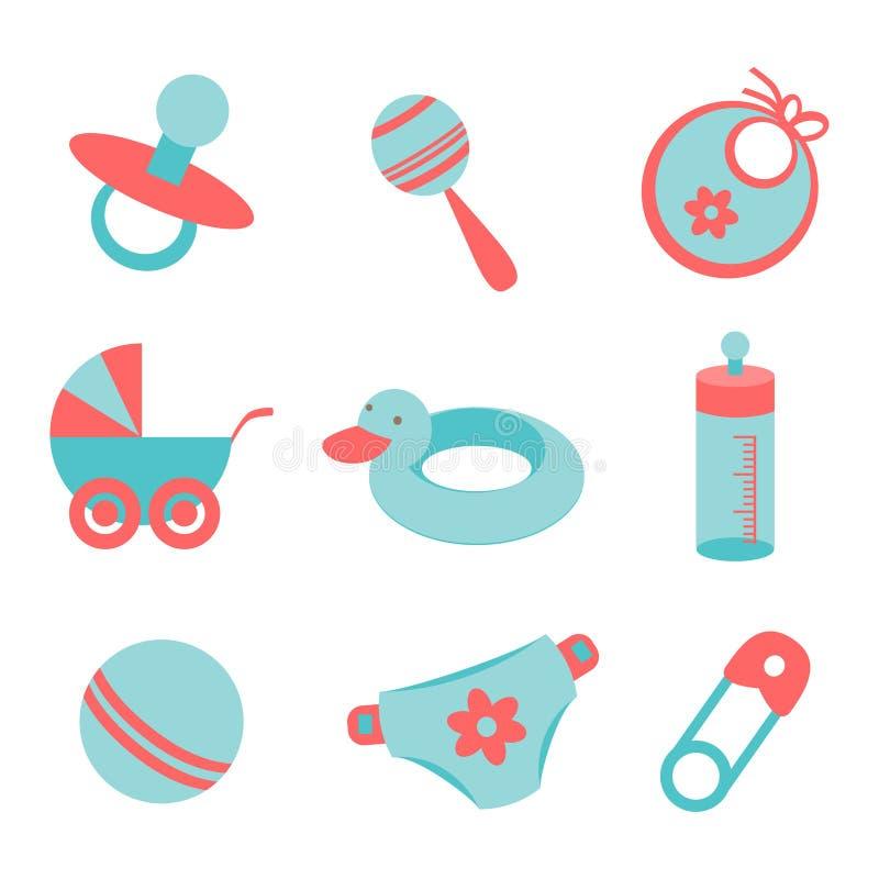 Εικονίδια μωρών διανυσματική απεικόνιση