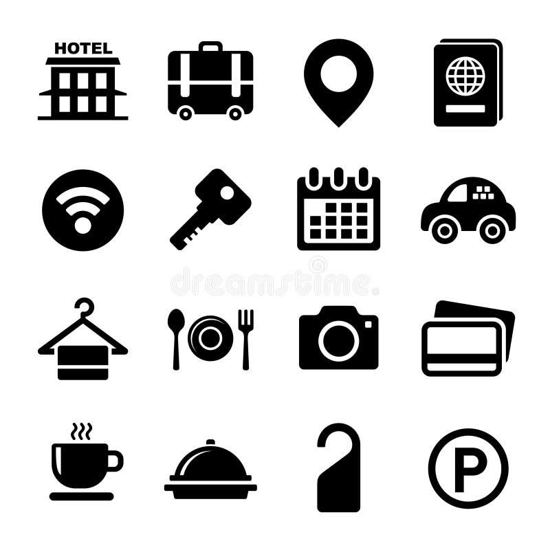 εικονίδια ξενοδοχείων π διανυσματική απεικόνιση