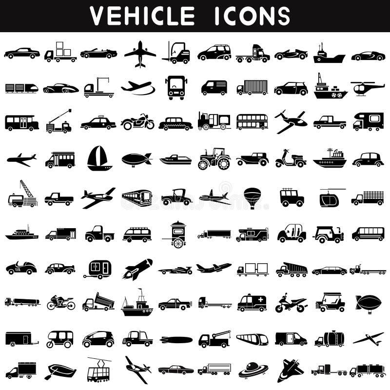 Εικονίδια οχημάτων ελεύθερη απεικόνιση δικαιώματος