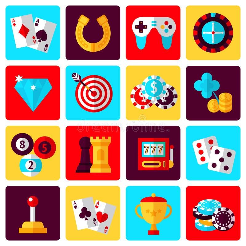 Εικονίδια παιχνιδιών καθορισμένα απεικόνιση αποθεμάτων
