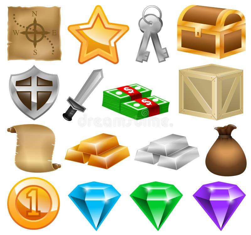 Εικονίδια παιχνιδιών, κοινωνικό παιχνίδι, παιχνίδι online, ανάπτυξη παιχνιδιών διανυσματική απεικόνιση
