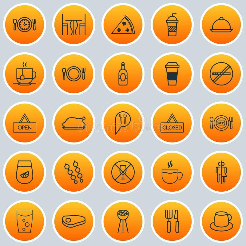 εικονίδια που τίθενται Συλλογή Mocha, της σχάρας ραβδιών, της σχάρας και άλλων στοιχείων Επίσης περιλαμβάνει τα σύμβολα όπως το W απεικόνιση αποθεμάτων