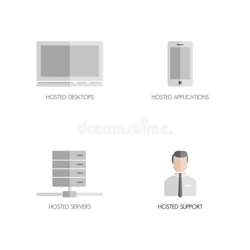 εικονίδια που τίθενται &epsi διανυσματική απεικόνιση