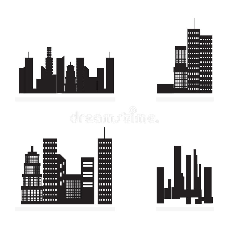 Εικονίδια πόλεων διανυσματική απεικόνιση