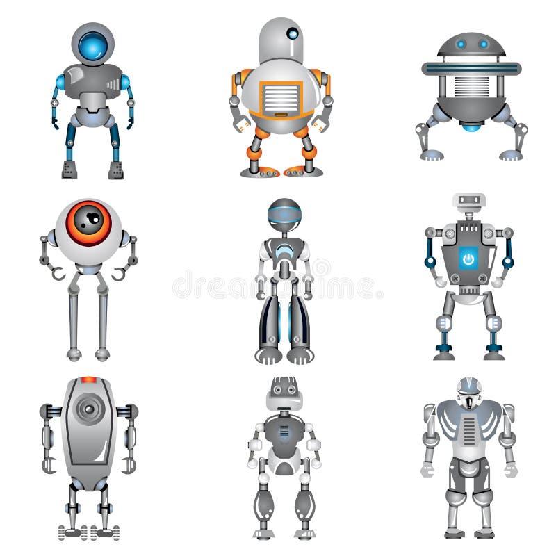 Εικονίδια ρομπότ ελεύθερη απεικόνιση δικαιώματος