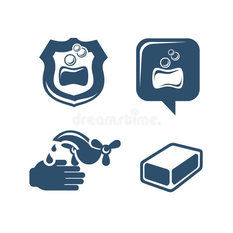 Εικονίδια σαπουνιών απεικόνιση αποθεμάτων