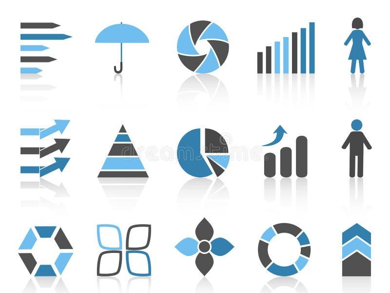 Εικονίδια στοιχείων Infographic καθορισμένα απεικόνιση αποθεμάτων