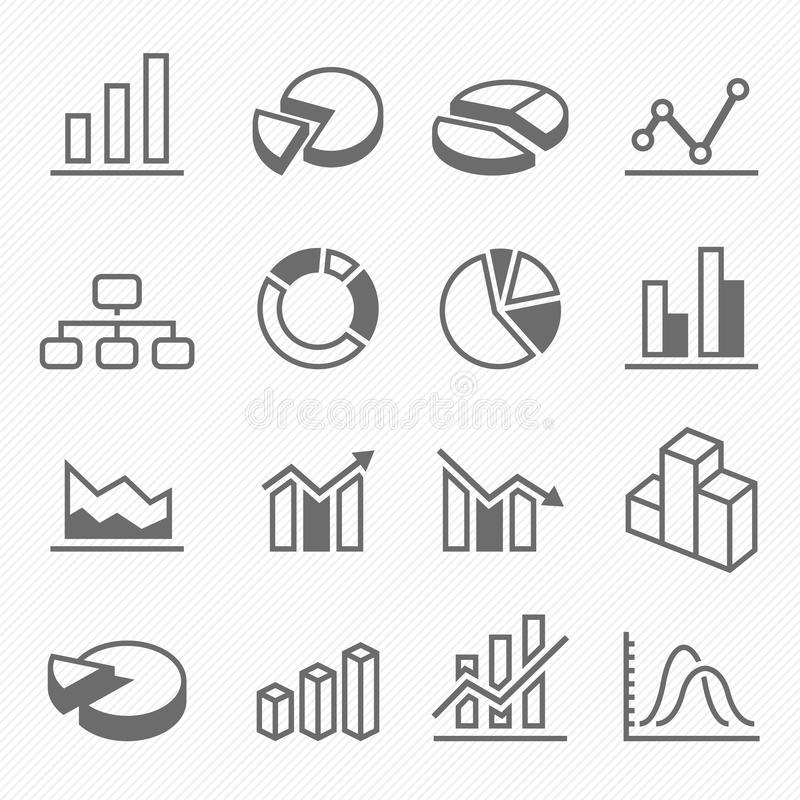 Εικονίδια συμβόλων κτυπήματος περιλήψεων γραφικών παραστάσεων απεικόνιση αποθεμάτων