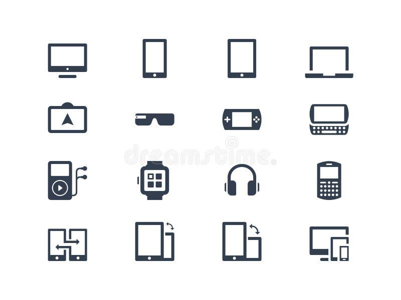 Εικονίδια συσκευών συσκευές διανυσματική απεικόνιση
