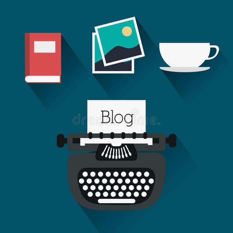 Εικονίδια σχεδίου Blog ελεύθερη απεικόνιση δικαιώματος