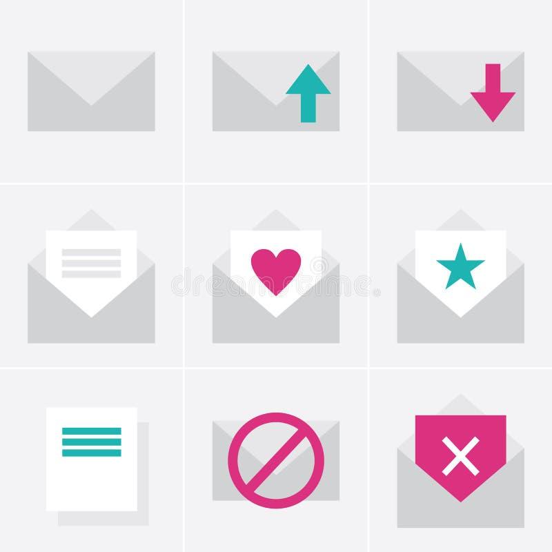 Εικονίδια ταχυδρομείου απεικόνιση αποθεμάτων