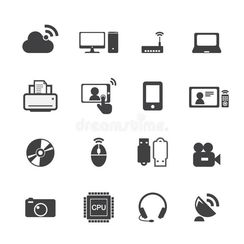 Εικονίδια τεχνολογίας ελεύθερη απεικόνιση δικαιώματος