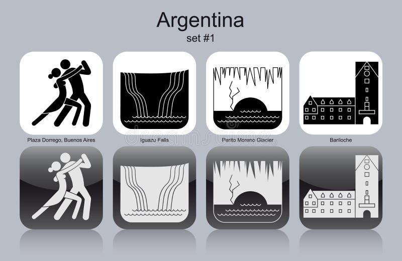 Εικονίδια της Αργεντινής ελεύθερη απεικόνιση δικαιώματος