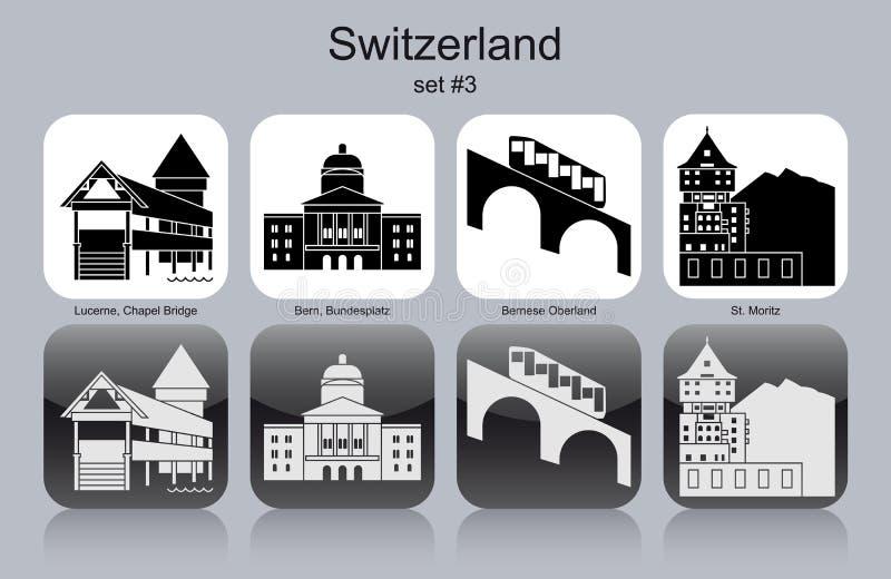 Εικονίδια της Ελβετίας ελεύθερη απεικόνιση δικαιώματος
