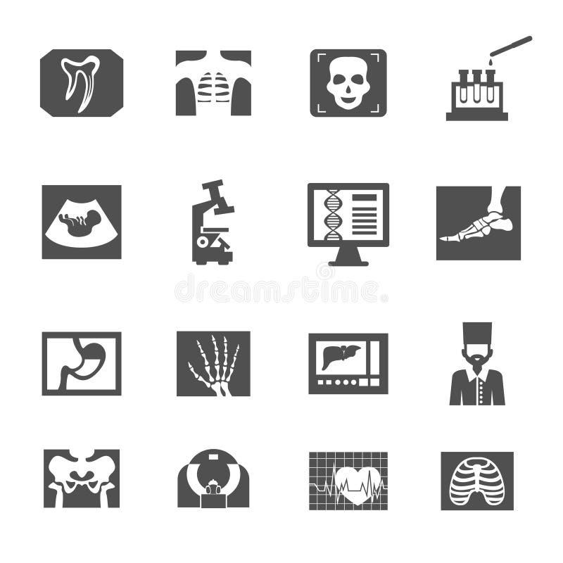 Εικονίδια υπερήχου και ακτίνας X ελεύθερη απεικόνιση δικαιώματος