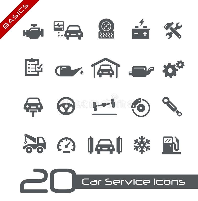 Εικονίδια υπηρεσιών αυτοκινήτων -- Βασικά απεικόνιση αποθεμάτων