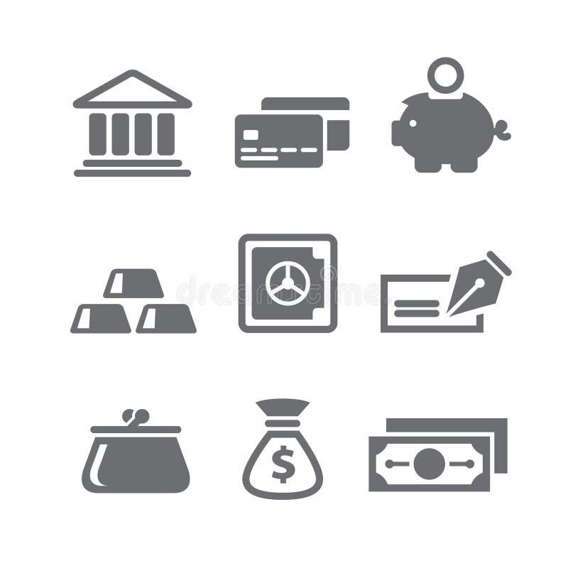 Εικονίδια χρηματοδότησης και χρημάτων ελεύθερη απεικόνιση δικαιώματος