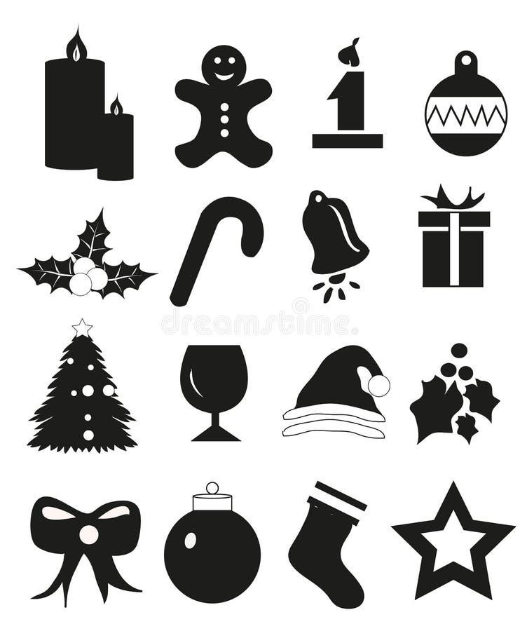 εικονίδια Χριστουγέννων που τίθενται απεικόνιση αποθεμάτων