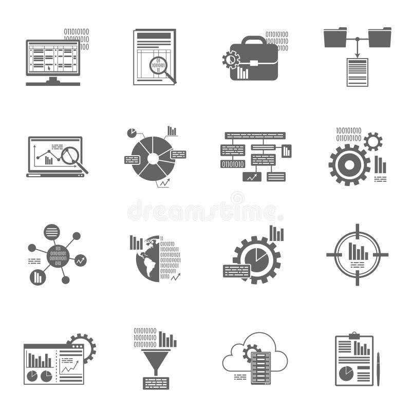 Εικονίδια analytics στοιχείων ελεύθερη απεικόνιση δικαιώματος