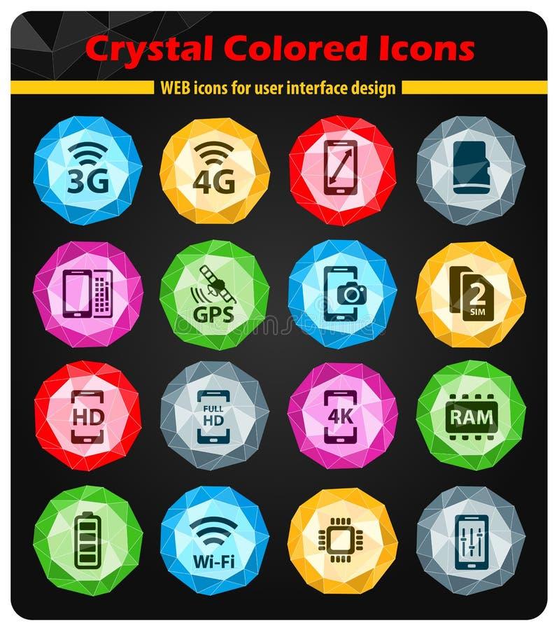 Εικονίδια Smarthone specs απλά ελεύθερη απεικόνιση δικαιώματος