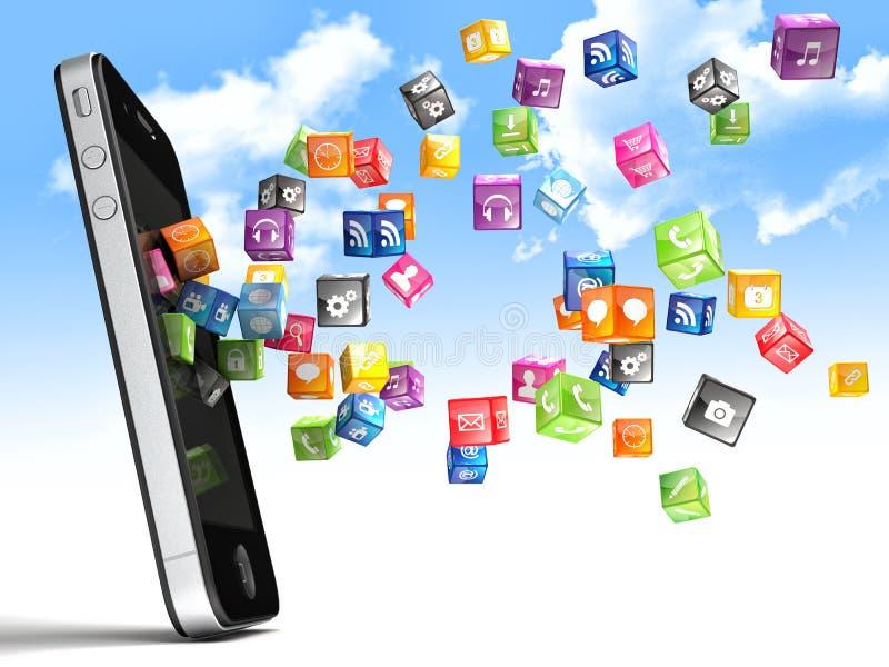 Εικονίδια Smartphone ελεύθερη απεικόνιση δικαιώματος