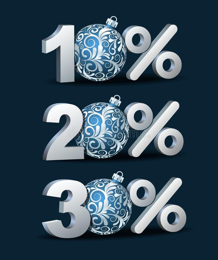 Εικονίδιο έκπτωσης τοις εκατό διανυσματική απεικόνιση