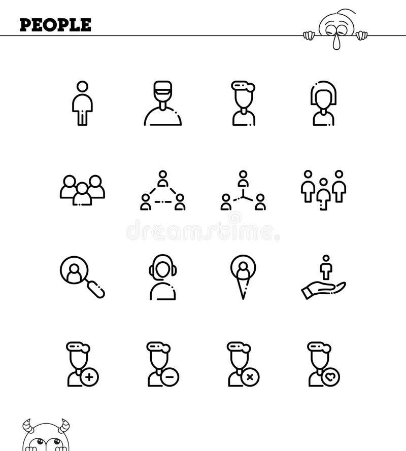 εικονίδιο ένα καθορισμένη εργασία χρηστών προσώπων ανθρώπων απεικόνιση αποθεμάτων