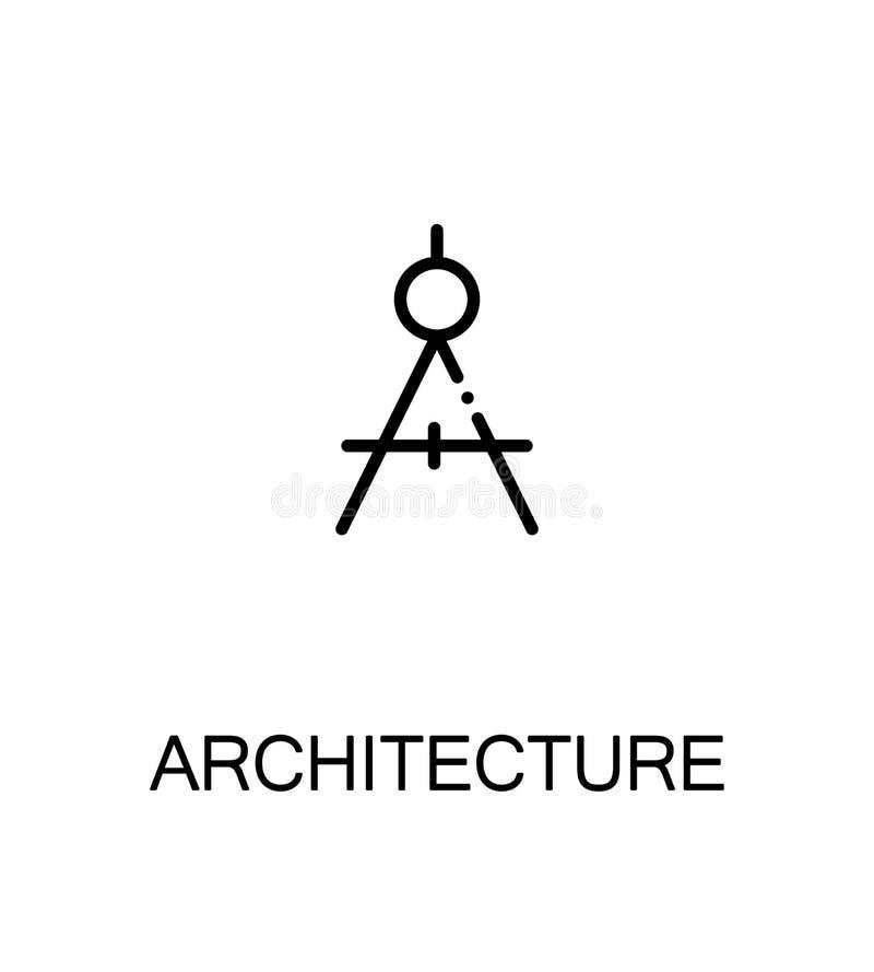 Εικονίδιο ή λογότυπο αρχιτεκτονικής για το σχέδιο Ιστού ελεύθερη απεικόνιση δικαιώματος