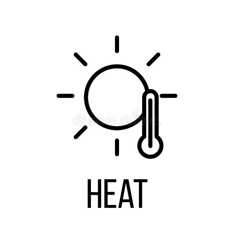 Εικονίδιο ή λογότυπο θερμότητας στο σύγχρονο ύφος γραμμών διανυσματική απεικόνιση