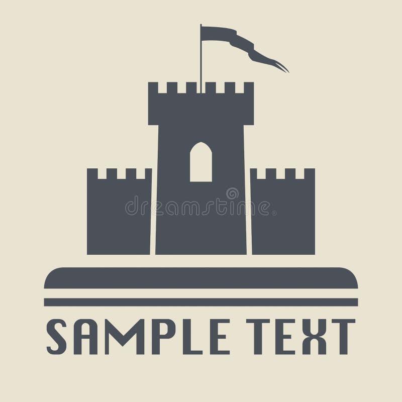 Εικονίδιο ή σημάδι του Castle ελεύθερη απεικόνιση δικαιώματος