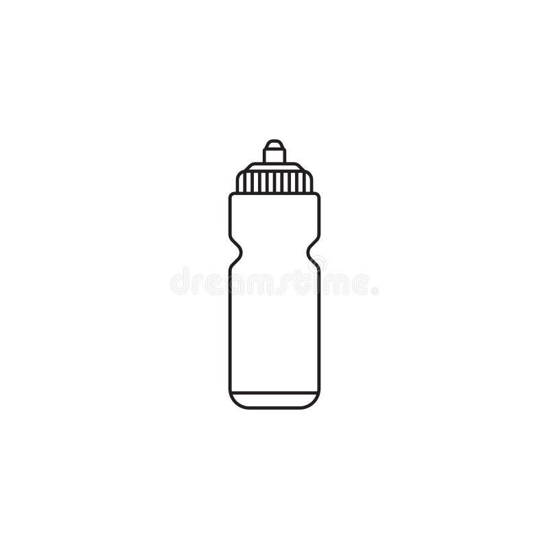 Εικονίδιο ίσαλων γραμμών αθλητικών μπουκαλιών, υδρο φιάλη διανυσματική απεικόνιση