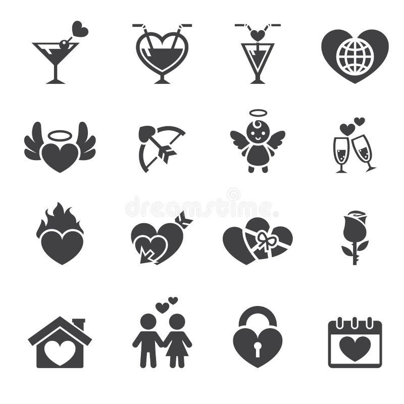 εικονίδιο αγάπης ελεύθερη απεικόνιση δικαιώματος
