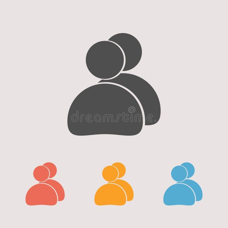 Εικονίδιο ανθρώπων, απεικόνιση Επίπεδο ύφος σχεδίου απεικόνιση αποθεμάτων