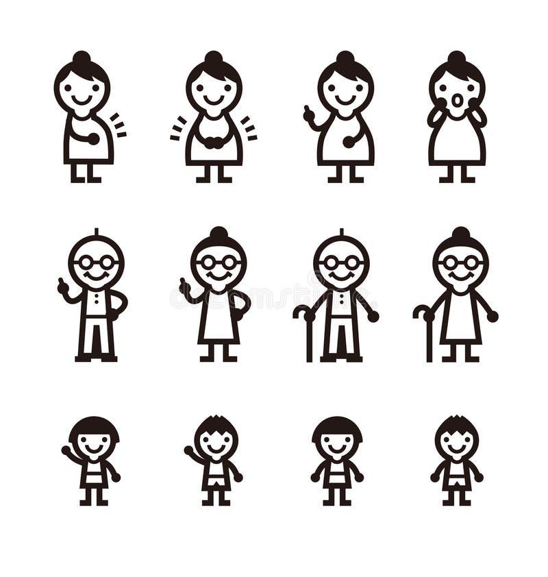 Εικονίδιο ανθρώπων διανυσματική απεικόνιση