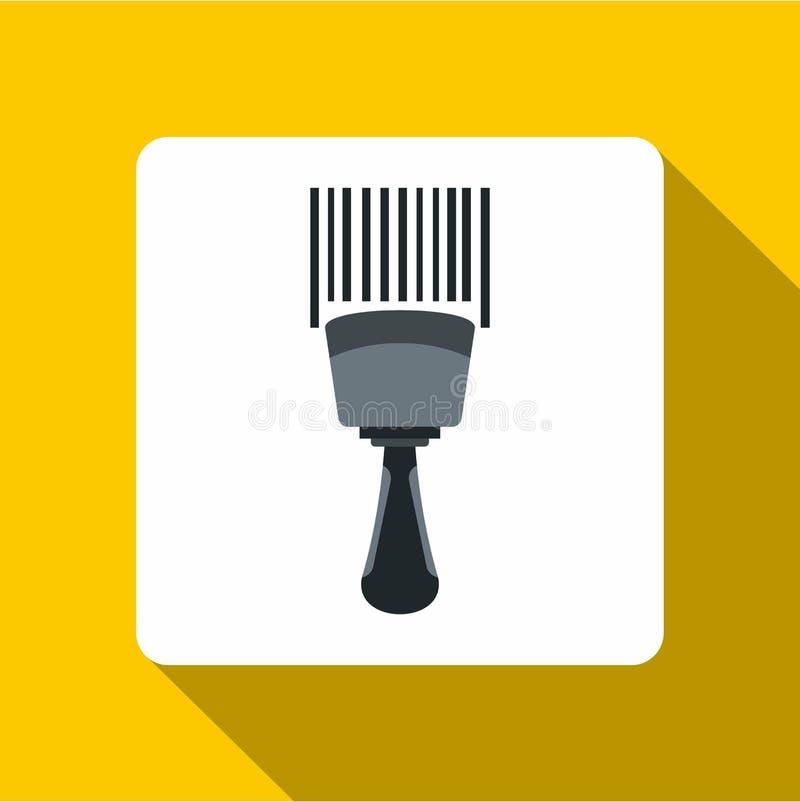 Εικονίδιο ανιχνευτών κώδικα φραγμών, επίπεδο ύφος ελεύθερη απεικόνιση δικαιώματος