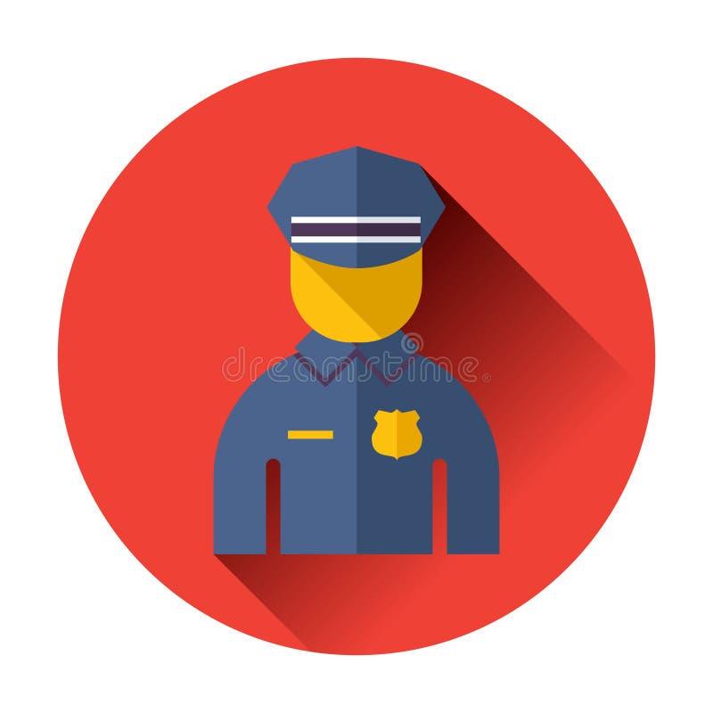 Εικονίδιο αστυνομικών απεικόνιση αποθεμάτων